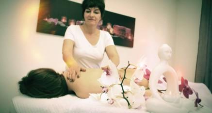 Institut de beauté Clair de Lune à Broc, exemple de massage